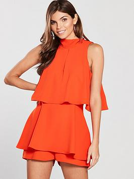 river-island-sleeveless-playsuit--red