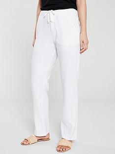 v-by-very-linen-mix-drawcord-trousers-ndash-white