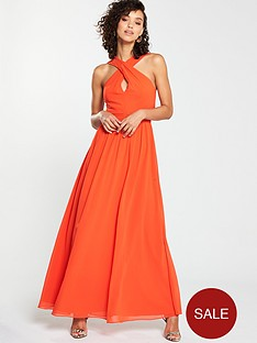 v-by-very-twist-front-maxi-dress-hot-coral