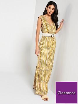 v-by-very-shirred-waist-aztec-maxi-dress-print