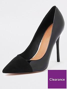 river-island-river-island-patent-mix-court-shoe--black