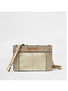 river-island-river-island-metal-top-boxy-crossbody-bag--gold