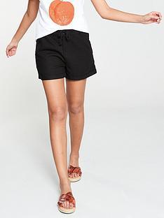 v-by-very-linen-mix-shorts-ndash-black