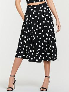 michelle-keegan-co-ord-printed-prom-skirt-spot-print