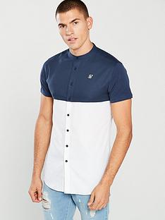 sik-silk-ss-cut-and-sew-grandad-shirt