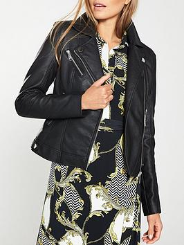 V by Very V By Very Faux Leather Pu Jacket - Black Picture