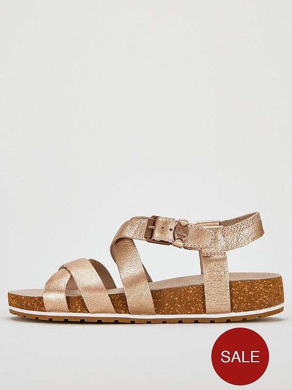 Malibu Waves Flat Sandals Rose Gold