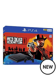 playstation-4-red-dead-redemption-2-ps4-500gb-console-bundle-withnbspoptional-extras