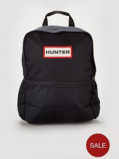 hunter-original-nylon-logo-backpack-black