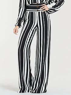 michelle-keegan-printed-wide-leg-linen-trousers-mono-stripe