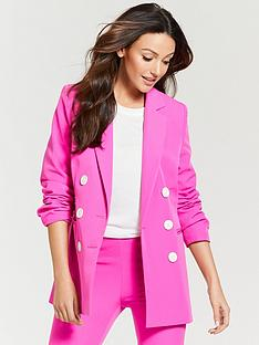 michelle-keegan-oversized-double-breasted-blazer-fuchsia