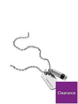 diesel-diesel-stainless-steel-chain-and-double-pendant-dog-tag-neckwear