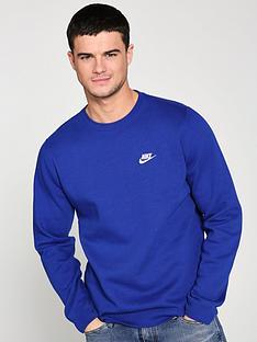 nike-sportswear-club-fleece-crew-neck-sweat-indigo
