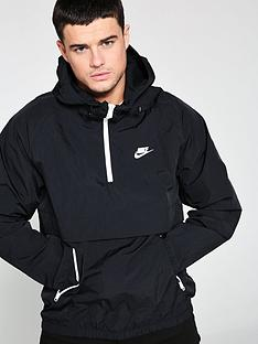 nike-sportswear-half-zip-woven-hooded-jacket-black