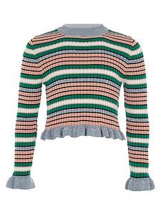 river-island-girls-blue-stripe-frill-sleeve-jumper