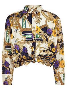 river-island-girls-cream-baroque-print-tie-front-shirt