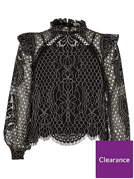 river-island-girls-black-lace-high-neck-long-sleeve-top