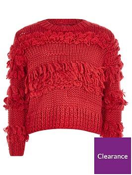 river-island-girls-red-fringe-trim-knit-jumper