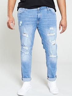 jack-jones-plus-rip-amp-repair-skinny-fit-liam-jeans-blue