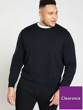 jack-jones-plus-crew-neck-jumper-black