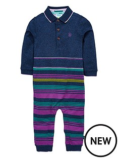 4aea04042 Baker by Ted Baker Baby Boys Stripe Polo Romper