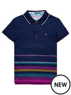 2b020d498 Baker by Ted Baker Boys Short Sleeve Stripe Polo