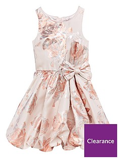 8918342c7a6d Baker by Ted Baker Girls Foil Print Bubble Hem Dress