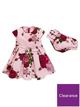 64bd763bb Baker by Ted Baker Baby Girls Rose Ottoman Dress   Knickers ...