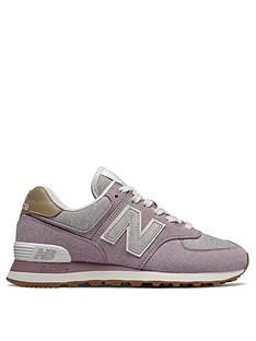 new styles 2bd61 a90c8 New Balance 574 - Pink White