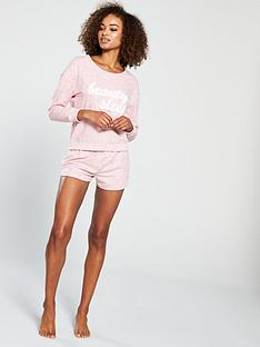 v-by-very-applique-lounge-short-set-pink