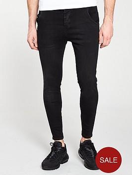 sik-silk-skinny-denim-jeans-black