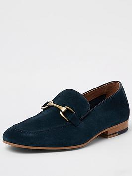 river-island-teal-thor-snaffle-loafer