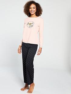 v-by-very-brunch-long-sleeve-pyjama-set-peach-black
