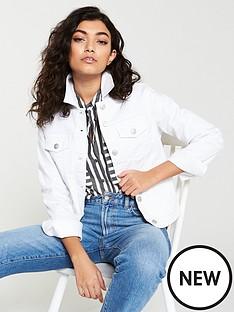 b012306030 V by Very Denim Western Jacket - White