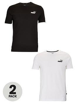 Puma Puma 2 Pack Essentials Small Logo T-Shirt - Black &Amp; White Picture