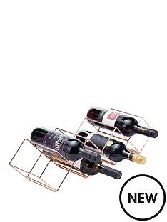 kitchencraft-barcraft-copper-finish-stackable-wine-rack