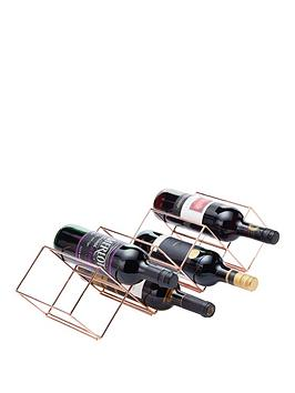 Kitchencraft Kitchencraft Barcraft Rose Gold Finish Stackable Wine Rack Picture