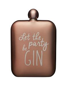 kitchencraft-barcraft-175ml-stainless-steel-gin-slogan-hip-flask