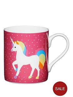 kitchencraft-set-of-2-fine-bone-china-unicorn-mini-mugs-250ml