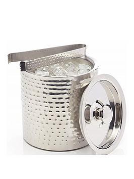 kitchencraft-barcraft-hammered-stainless-steel-ice-bucket