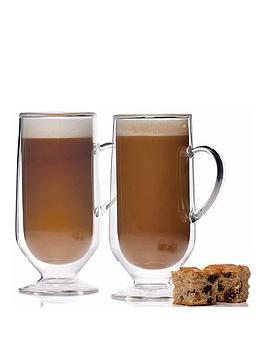 Kitchencraft Kitchencraft Set Of 2 Double Walled Latte Glasses Picture