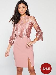91084a91dcb7 Little Mistress Little Mistress Lace Top Knee-length Bodycon Dress