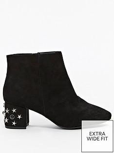 evans-evans-extra-wide-fit-star-embellished-heel-ankle-boot