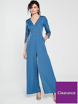 little-mistress-little-mistress-crochet-sleeve-wide-leg-jumpsuit
