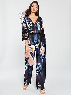 little-mistress-little-mistress-floral-print-crochet-trim-jumpsuit