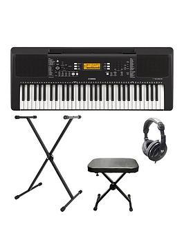 Yamaha Yamaha Yamaha Psre363 Portable Keyboard With Stand, Bench,  ... Picture