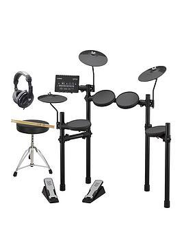 Yamaha Yamaha Yamaha Dtx402 Electronic Drum Kit With Sticks, Drum Throne,  ... Picture