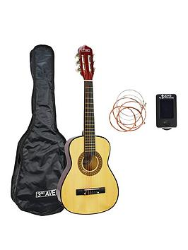 3Rd Avenue 3Rd Avenue 1/4 Size Classical Guitar Pack With Bag , Tuner, Strings, And Online Lessons