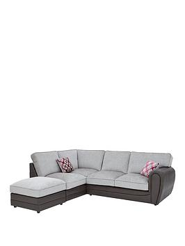 Very Moreno Faux Snakeskin And Fabric Left Hand Corner Chaise Standard  ... Picture