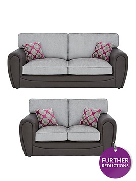 moreno-fauxnbspsnakeskin-and-fabric-3-seater-2-seater-standard-back-sofa-set-buy-and-save